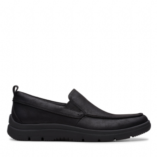 Clarks Mens Tunsil Way Black Shoes